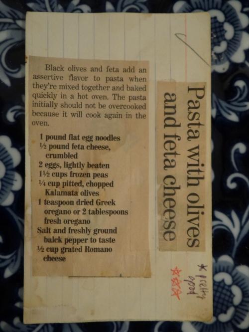 Pasta Olives Feta front