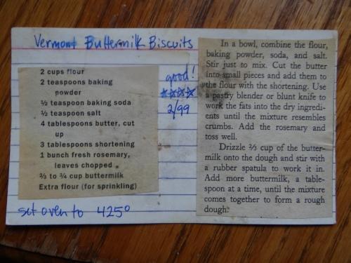 Vermont Buttermilk Biscuits