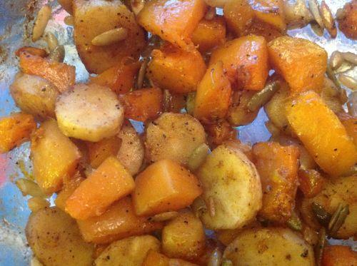 Butternut Squash and Parsnip roast